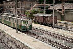 TrainScape: Diorama basado en Vadollano. 56 Model Train Layouts, Ho Scale, Model Trains, Scenery, Dioramas, Art, Model Train, Model Building, Landscape