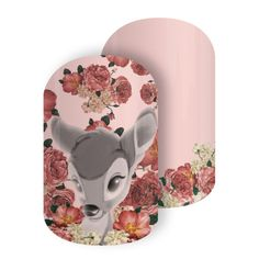 It's Purty | Disney Collection by Jamberry Our favorite Prince of the Forest amongst vintage-inspired florals gives this design a time-honored feel that any Disney Bambi fan will love.