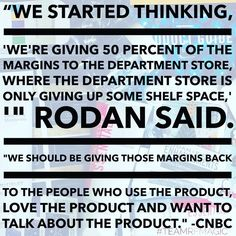Ever wonder why Rodan and Fields pulled out of department stores and restructured to direct sales? Here is why! The new business model not only allows me to support my family, but it also gives money back to the consumer instead of big business. I love Rodan and Fields! If you are interested in learning more about becoming part of Rodan and Fields, check out the link!