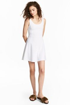 Abito in jersey - Bianco - DONNA   H&M IT 1