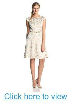 Anne Klein Women's Reflection Jacquard Dress #Anne #Klein #Womens #Reflection #Jacquard #Dress