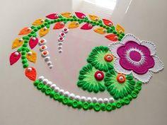 Easy Rangoli Designs Videos, Easy Rangoli Designs Diwali, Rangoli Simple, Indian Rangoli Designs, Rangoli Designs Latest, Simple Rangoli Designs Images, Rangoli Designs Flower, Free Hand Rangoli Design, Rangoli Patterns