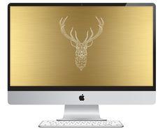 Oh So Lovely: 3 free geometric deer desktops