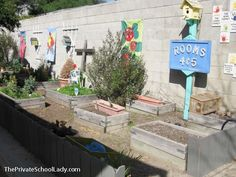 The preschool garden at Pasadena Christian School! www.pasadenachristian.org