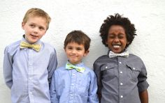 Super Cute Kids' Bow Tie tutorial with a velcro closure | by  A Happy Stitch for Sew Mama Sew