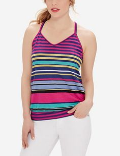 Striped Racerback Cami from THELIMITED.com