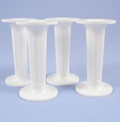 Pack Of Four 3 Inch White Round Pillars