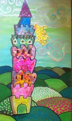 Cuadritos De Colores : La Princesa 30x50 55€ Pedidos y más cuadros en mi Facebook Cuadritos de Colores y en mi blog www.miscuadritosdecolores.blogspot.com