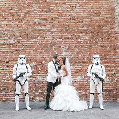 #tbt to one of our most popular weddings ever...this insanely gorgeous #starwars wedding {link in profile to see more including when the bride's father surprised everyone on the dance floor as Darth Vader!} #Maythe4thBeWithYou #starwarsday //📷: @caca_santoro