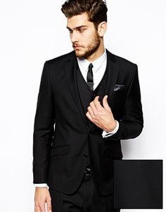 ASOS Slim Fit Suit Jacket In Black £60.00 | MEN STYLE | Pinterest ...