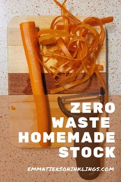 """""""Waste not, want not"""" can be taken to heart with this stock recipe. Save those scraps, and reap the benefits! #homemadestock #ecofriendly #budgetcooking"""