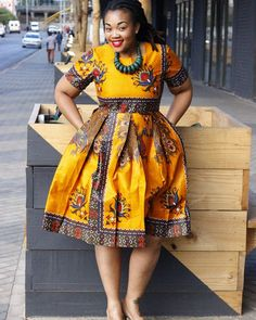 No photo description available. African Formal Dress, Short African Dresses, African Traditional Dresses, Latest African Fashion Dresses, African Print Fashion, Africa Fashion, African Attire, Seshoeshoe Dresses, Pleated Dresses