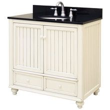 """View the Sunny Wood BB3621D Bristol Beach 36"""" Wood Vanity Cabinet Only at FaucetDirect.com."""