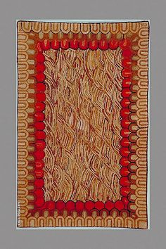 Hand Hooked Rug  Date: 1800–1900,   Culture: American,  Medium: Wool,  Dimensions: 61 1/4 x 39 in.  From the Collection of the Metropolitan Museum of Art