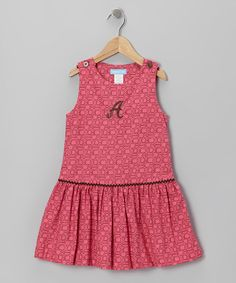 Take a look at this Hot Pink Geometric Initial Jumper - Toddler & Girls by Monday's Child on #zulily today!