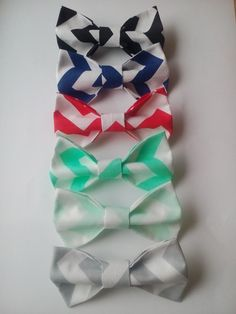 Bow ties Six chevron boys bowties Mint chevron by accessories482