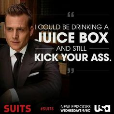 Harvey Specter drinking a Capri Sun is a sight I want to see!!