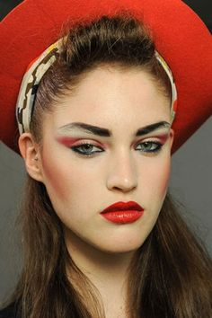 summer makeup | Makeup trends for spring summer 2013. This is very Boy George lookin g, a la early 80's