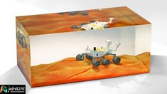 How to Get to Mars? I will show you how to make a beautiful Mars diorama. Rover Landing on Mars. Epoxy Resin Diorama