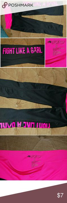 IDEOLOGY FIGHT LIKE A GIRL ll Capri ll XS IDEOLOGY 'Fight Like a Girl' Breast Cancer Awareness Support Capri. Size XS. Pants