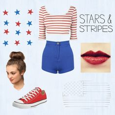 """""""Fourth of July Outfit!! ❤"""" by fashionxoxo97 on Polyvore"""