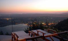 panorama dalla terrazza di Villa Luna Salò