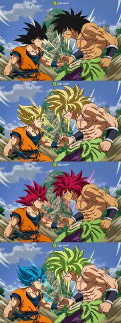 Goku and Broly sparring Dragon Ball Image, Dragon Ball Gt, Broly Ssj4, Goku Drawing, Goku Wallpaper, Son Goku, Goku Super, Super Saiyan, Anime Meme
