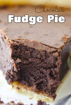 Chocolate Fudge Pie - OMG Chocolate Desserts