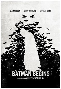 Batman Begins (2005) ~ Minimal Movie Poster by Calm the Ham #amusementphile