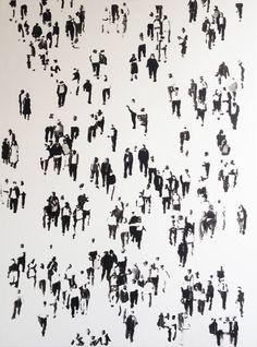 Original People Painting by Andrea Radai