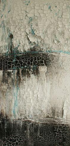 Annette Kleiner - Mischtechnik auf Leinwand 30x60x4 cm