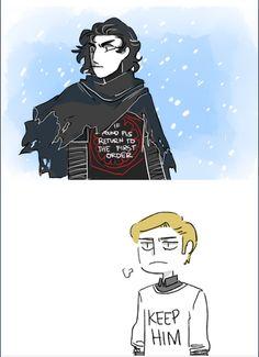 Star Wars: TFA || Ren + Hux: If found--KEEP HIM.