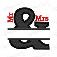 Small Split Ampersand 3 Applique Embroidery Design Mr Mrs Husband Wife Wedding 3x3 4x4 5x5 INSTANT DOWNLOAD