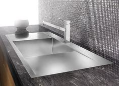 Blanco Flow 516348 - modern - kitchen sinks - - by AJ Madison Kitchen And Bath Gallery, Contemporary Kitchen Sinks, Blanco Sinks, Kitchen Confidential, New Kitchen, Kitchen Ideas, Kitchen Redo, Kitchen Remodel, Kitchens