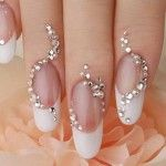 Top Nail Designs with Diamonds in 2014