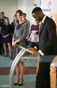 Catherine, Duchess of Cambridge looks on as Kensington Lapido talks at the Chance UK's Early Intervention Programme at Islington Town Hall on October 27, 2015 in London, England.