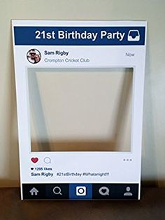Personalised Instaframe Social Media Party Selfie Photo Frame Party Booth Prop A1