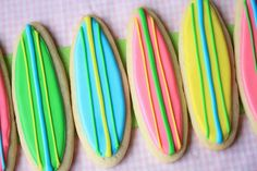 surf party decorations | Surf Birthday Party Ideas / surfboard cookies!