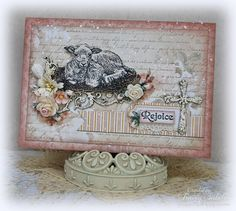 """Garden of Grace: """"Rejoice"""" Easter Card for Leaky Shed Studio"""