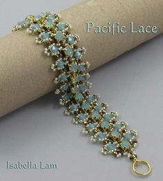 Pacific Lace Swarovski and SuperDuo Bracelet tutorial Pdf for personal use only. $12.00, via Etsy.