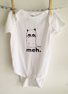 Grumpy cat onesie grumpy cat tshirt for babies to adult sizes avaliable on  Etsy f574a8ee1
