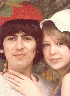 George & Pattie on their honeymoon (source: Lucy Who)