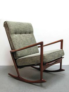 Ib Kofod Larsen Rocking Chair | From a unique collection of antique and modern rocking chairs at http://www.1stdibs.com/furniture/seating/rocking-chairs/