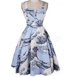 c90e856c769c FAST SHIPPING Vintage Ocean Waves Printed A-Line Dress · Roztomilé ŠatySexy  DressesLetné ...