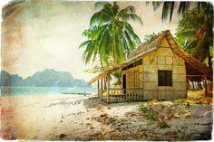 Great Australia & Oceania travel set by design shop on Surf Shack, Beach Shack, Beach Cottage Style, Beach House Decor, Palmiers, Beach Bungalows, Beach Scenes, Beach Art, Dog Beach
