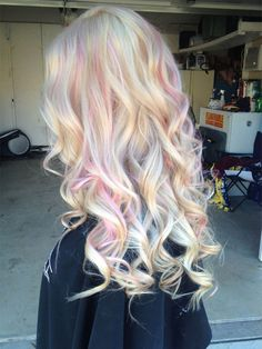 Opal hair coloring is a advacnced method of pastel highlights