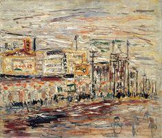 新宿風景 1937年頃 油彩、カンヴァス 46.0×53.0cm 東京国立近代美術館蔵 『歿後60年長谷川利行』展図録より