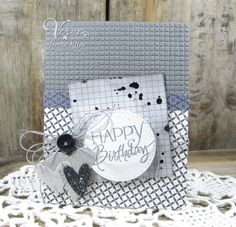 Handmade birthday card by Teresa Kline using the Happy Birthday plain jane from Verve.  #vervestamps