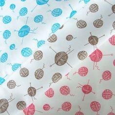Hand printed Knitting fabric | Sarah Waterhouse via Etsy