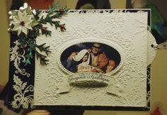 Christmas embossing folder  and spellbinders poinsettia die set